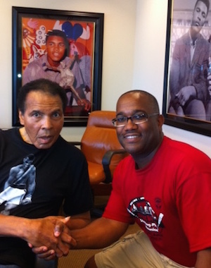 Muhammad Ali with Edward Hightower in 2011.