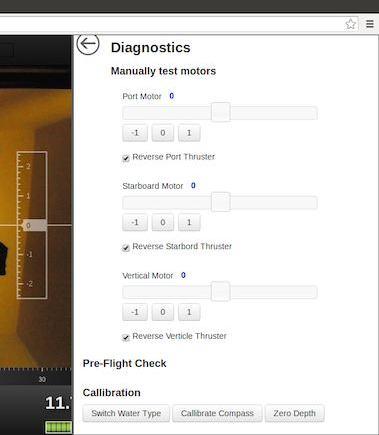 Click 'Diagnostics' from the OpenROV cockpit.