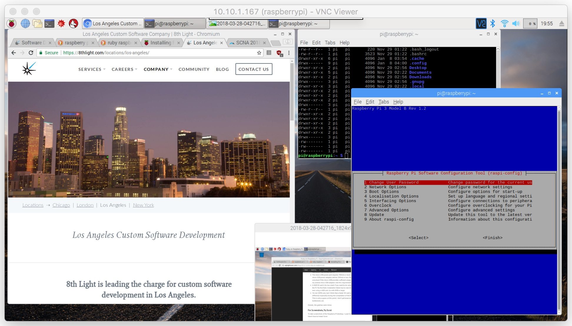 Raspberry Pi controlled via VNC