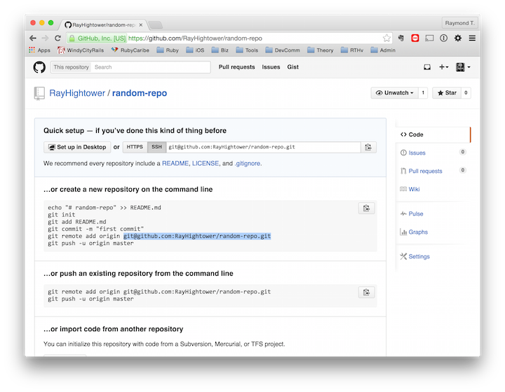 how to make a directory a git repository