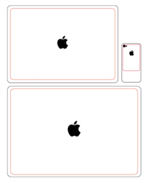 MacBook laser engraving alignment template