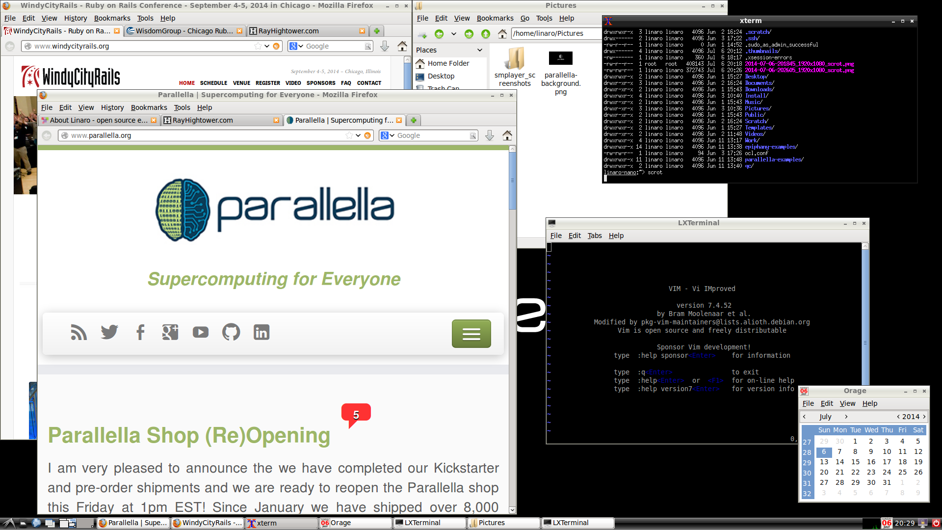 Parallella screenshot, 1080p.